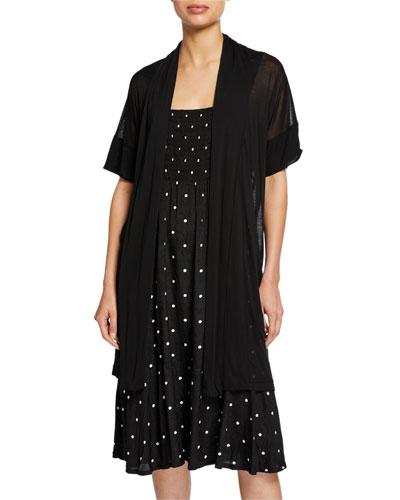 Ilensa Short-Sleeve Semisheer Cardigan