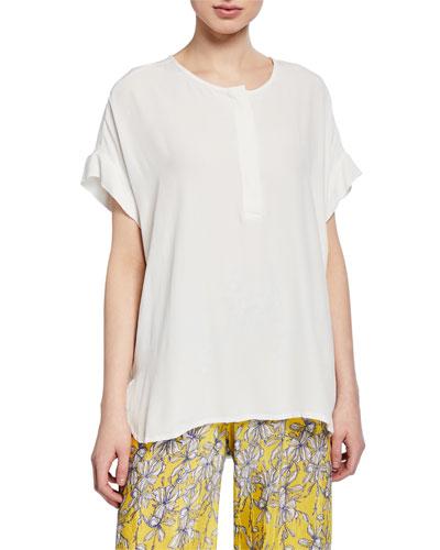 Drua Short-Sleeve Oversized Top
