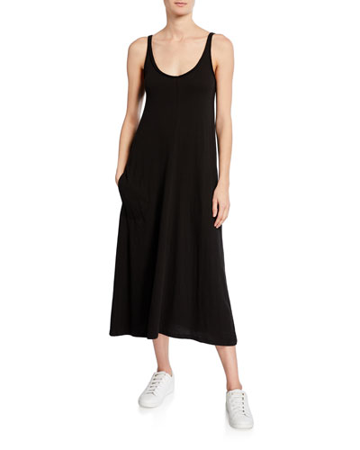 High Torsion Scoop-Neck Tank Dress
