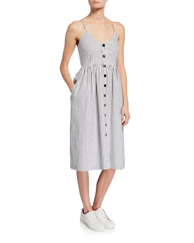 aecbd81200f4 Quick Look. ATM Anthony Thomas Melillo · Striped Button-Front Spaghetti-Strap  Dress