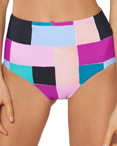 0aebf20ff7e Quick Look. Red Carter · Alexa High-Waist Colorblock Bikini Bottom
