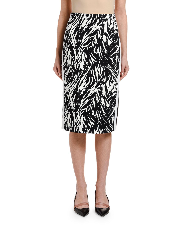 N°21 Skirts ZEBRA-PRINT PENCIL SKIRT