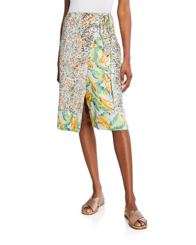128022c665 Quick Look. Le Superbe · Eve Sequined Printed Wrap Skirt