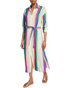 Le Superbe Striped Girlfriend Dress with Slip