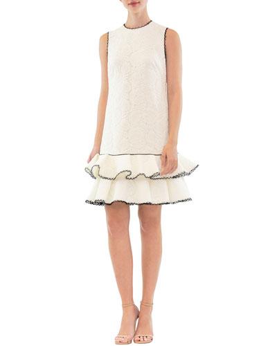 Sleeveless Tiered Ruffle Mini Dress