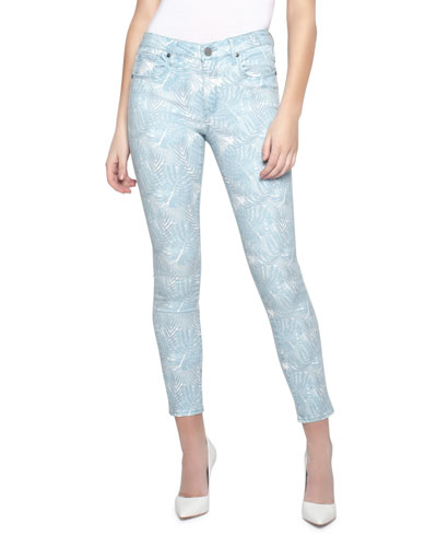 82b2b3dfdb9 Quick Look. Parker Smith · Ava Leaf-Print Cropped Skinny Jeans