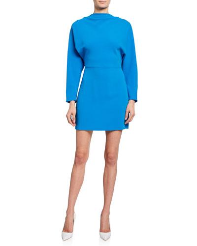 Marin Cowl-Neck Bracelet-Sleeve Mini Dress