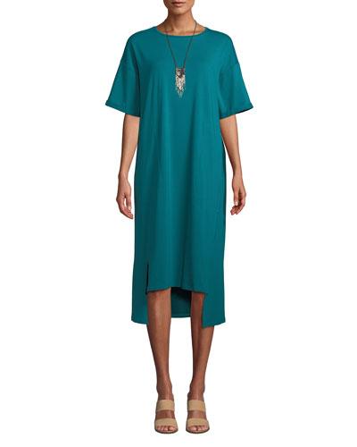 Short Sleeves Side Slit Dress  9b142f385