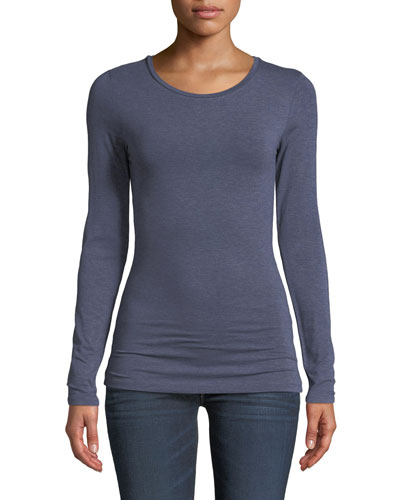 Ally Soft Touch Long-Sleeve Crewneck Top