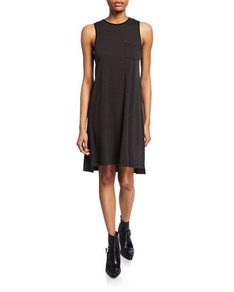 ATM Anthony Thomas Melillo Striped Jersey Dress