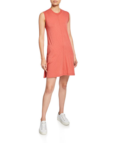 Crewneck Slub Jersey Tank Dress