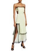 3.1 Phillip Lim Square-Neck Sleeveless Slit Dress with