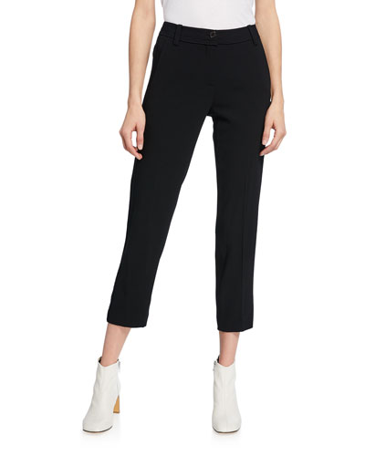 Mid-Rise Tapered Trousers