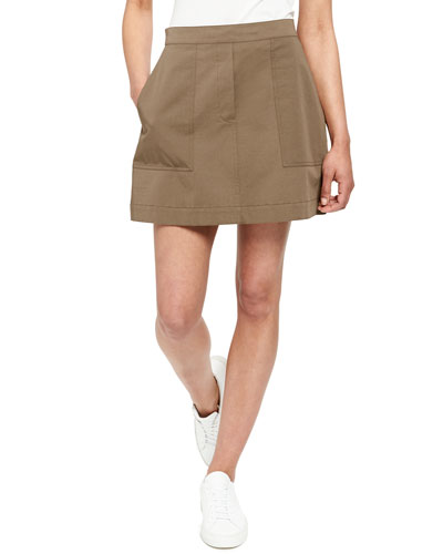 8c79a6f08d Quick Look. Theory · Stitched Pocket A-Line Mini Skirt. Available in Cargo