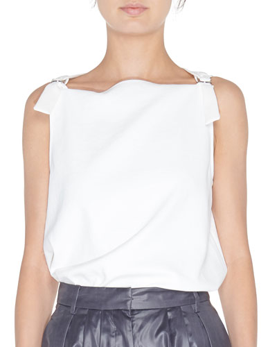 Sleeveless D-Ring Top