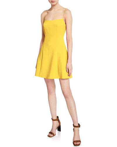 Carter Spaghetti-Strap Mini A-Line Dress