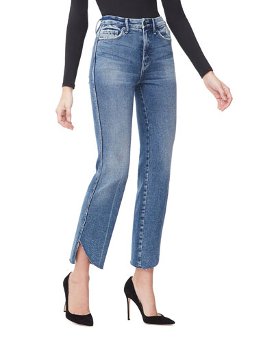 Good Curve Straight Cascade-Hem Jeans - Inclusive Sizing