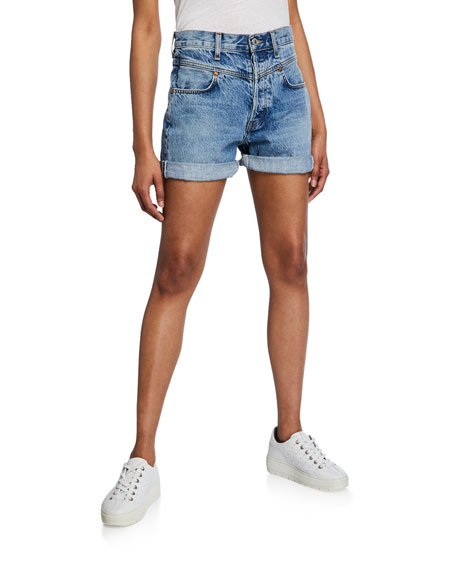 RE/DONE The 90s Double-Yoke Shorts