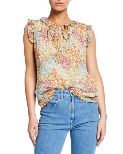 Ava Sleeveless Floral Top