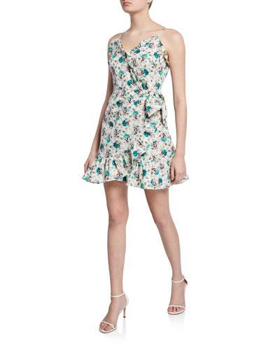 Sleeveless Carnation Ruffle Dress