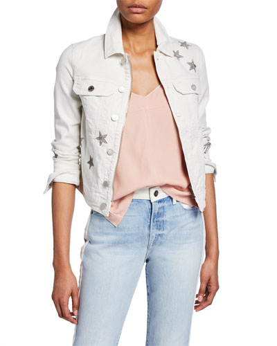 Kioky Star-Embellished Denim Jacket