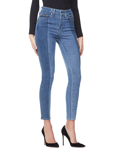 Good Legs Crop Laser-Cut Jeans - Inclusive Sizing