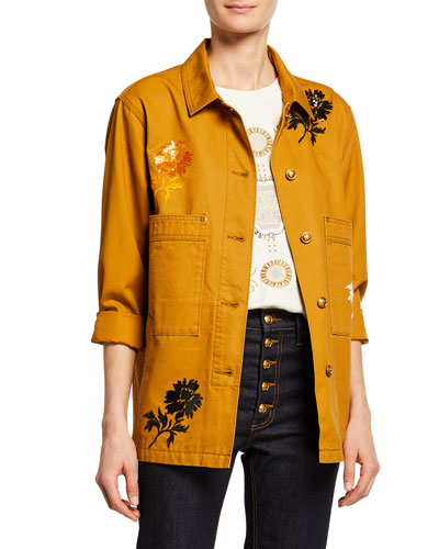 Embroidered Barn Jacket