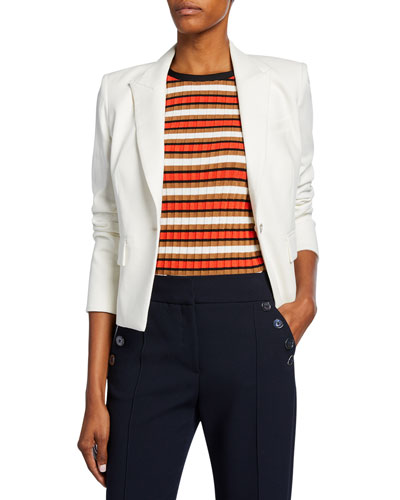 Danielle One-Button Dickey Crop Jacket
