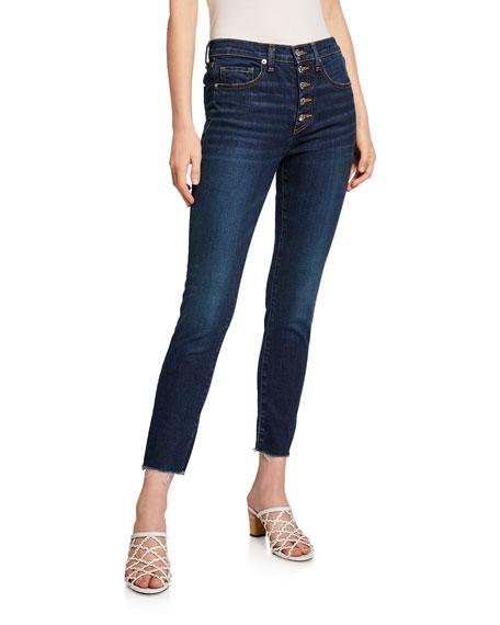 """Veronica Beard Jeans Debbie 10"""" Rise Skinny Jeans w/ Button Fly"""