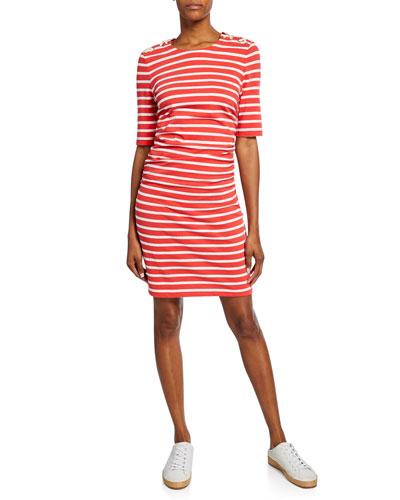Foley Striped Lace-up Dress