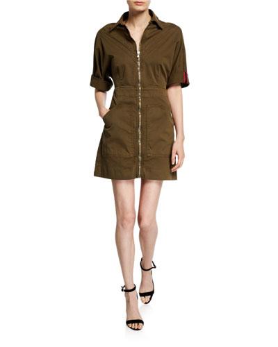 Dublin Zip-Front Utility Dress