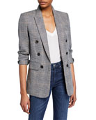 Veronica Beard Bexley Fuller Check Single-Button Dickey Jacket