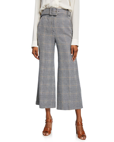Dexter Cropped Houndstooth Pants