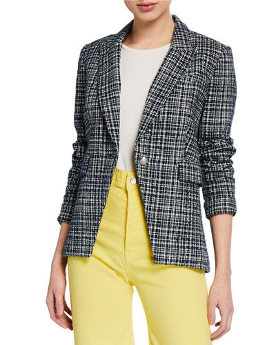 Crosshatch One-Button Cutaway Jacket