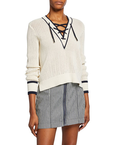 Iverson Lace-up Sweater