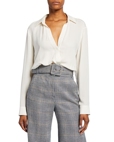 Clyde Silk Asymmetrical Shirt