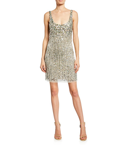 Reena Beaded Fringe Sleeveless Mini Dress