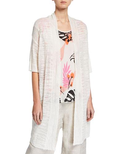Laxmi Oversize Half-Sleeve Melange Cardigan