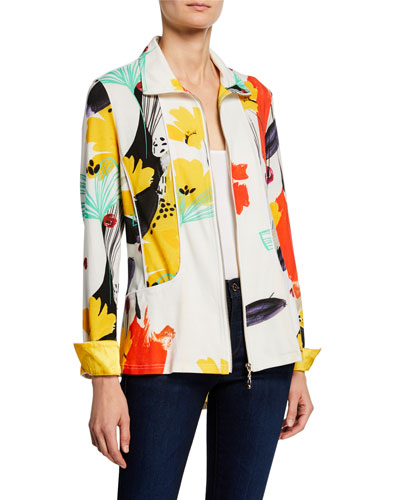 Petite Color of Sunshine Knit Zip Jacket