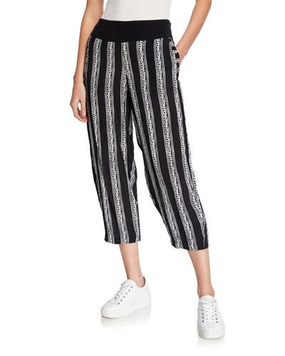Pemca Greek Frieze Culotte Pants