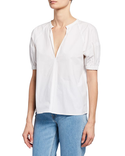 Katherine V-Neck Short-Sleeve Top