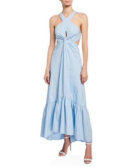 A.L.C. Lansbury Cutout Halter Maxi Dress