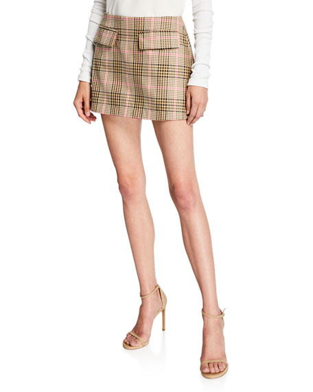 Maggie Marilyn Short And Sweet Check Skirt