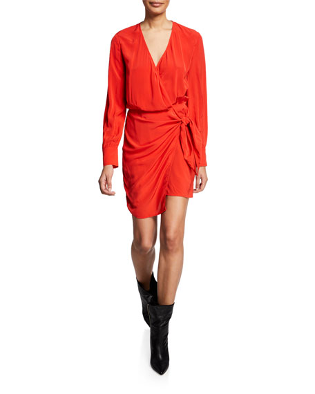 Iro Ophie Long-Sleeve Wrap Dress