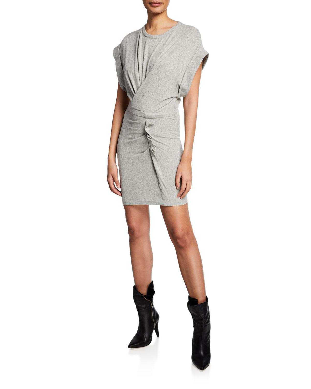 Iro Dresses WYNOT GATHERED JERSEY SHORT DRESS