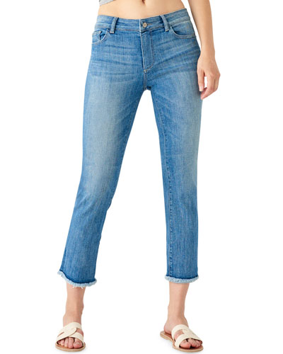 Mara High-Rise Straight Cropped Jeans