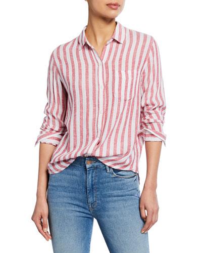 Charli Striped Button-Down Shirt