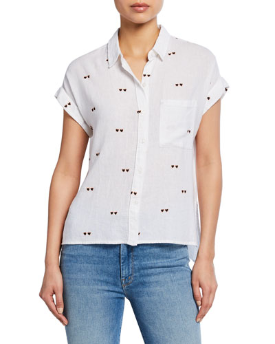 Whitney Hearts Button-Front Shirt