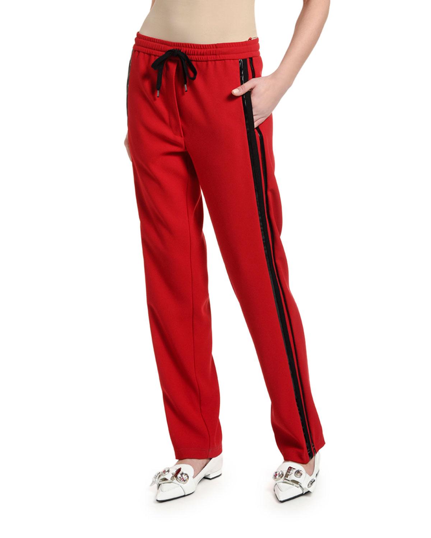 N°21 Pants SIDE-STRIPE DRAWSTRING SWEATPANTS