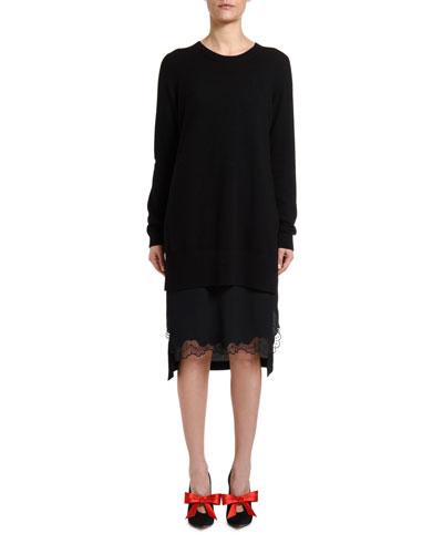Combo Slip Sweater Dress